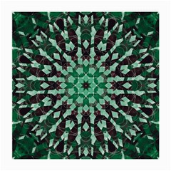 Abstract Green Patterned Wallpaper Background Medium Glasses Cloth (2-Side)