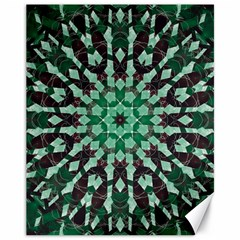 Abstract Green Patterned Wallpaper Background Canvas 11  X 14