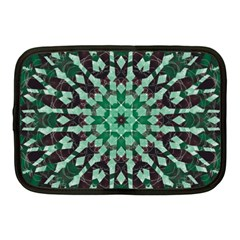 Abstract Green Patterned Wallpaper Background Netbook Case (Medium)