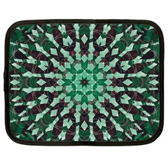 Abstract Green Patterned Wallpaper Background Netbook Case (Large)