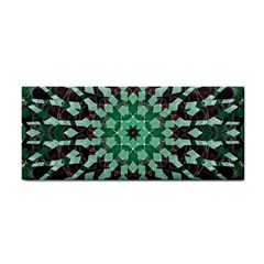 Abstract Green Patterned Wallpaper Background Cosmetic Storage Cases