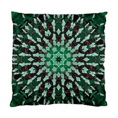Abstract Green Patterned Wallpaper Background Standard Cushion Case (Two Sides)