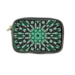 Abstract Green Patterned Wallpaper Background Coin Purse