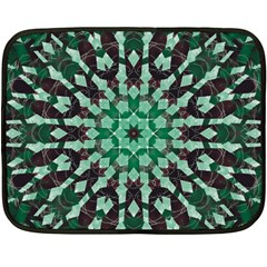 Abstract Green Patterned Wallpaper Background Double Sided Fleece Blanket (mini)