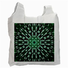 Abstract Green Patterned Wallpaper Background Recycle Bag (Two Side)