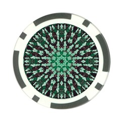 Abstract Green Patterned Wallpaper Background Poker Chip Card Guard (10 pack)