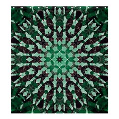 Abstract Green Patterned Wallpaper Background Shower Curtain 66  x 72  (Large)