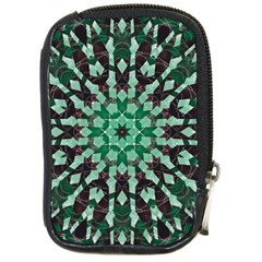 Abstract Green Patterned Wallpaper Background Compact Camera Cases