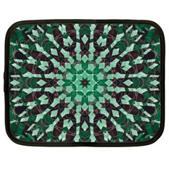 Abstract Green Patterned Wallpaper Background Netbook Case (XL)