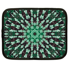 Abstract Green Patterned Wallpaper Background Netbook Case (xxl)