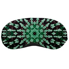 Abstract Green Patterned Wallpaper Background Sleeping Masks