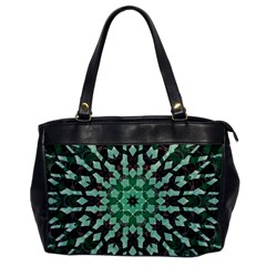 Abstract Green Patterned Wallpaper Background Office Handbags