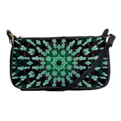 Abstract Green Patterned Wallpaper Background Shoulder Clutch Bags