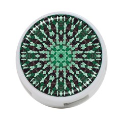 Abstract Green Patterned Wallpaper Background 4 Port Usb Hub (one Side)