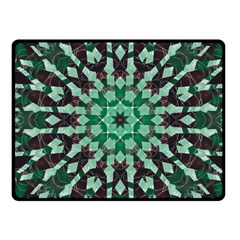 Abstract Green Patterned Wallpaper Background Fleece Blanket (small)