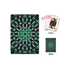 Abstract Green Patterned Wallpaper Background Playing Cards (Mini)