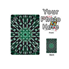 Abstract Green Patterned Wallpaper Background Playing Cards 54 (mini)