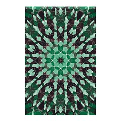 Abstract Green Patterned Wallpaper Background Shower Curtain 48  x 72  (Small)