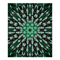 Abstract Green Patterned Wallpaper Background Shower Curtain 60  x 72  (Medium)
