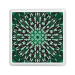 Abstract Green Patterned Wallpaper Background Memory Card Reader (Square)  Front