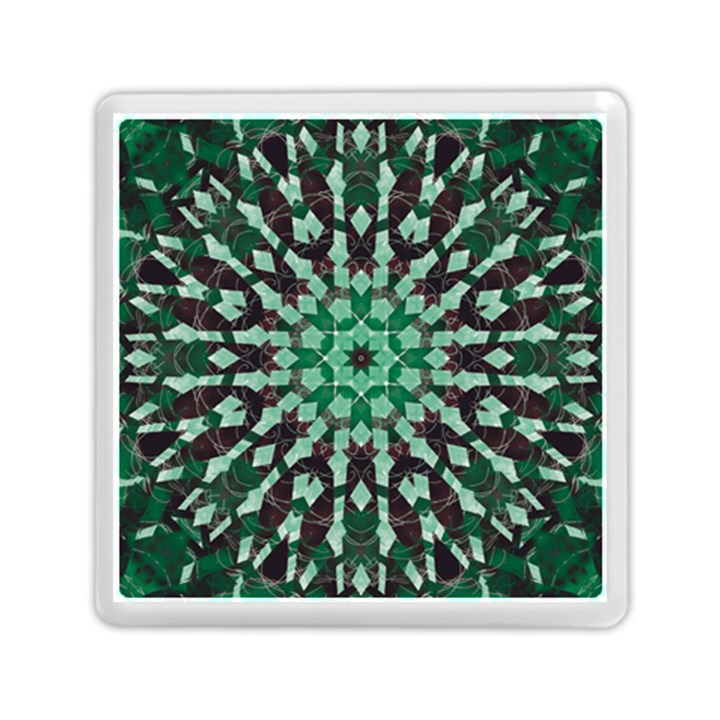 Abstract Green Patterned Wallpaper Background Memory Card Reader (Square)