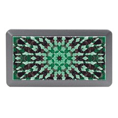 Abstract Green Patterned Wallpaper Background Memory Card Reader (Mini)