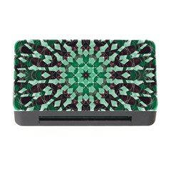 Abstract Green Patterned Wallpaper Background Memory Card Reader with CF