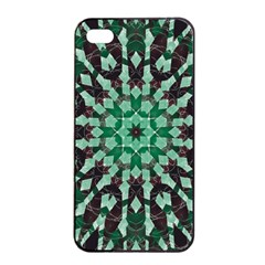 Abstract Green Patterned Wallpaper Background Apple iPhone 4/4s Seamless Case (Black)