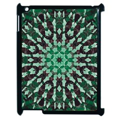 Abstract Green Patterned Wallpaper Background Apple Ipad 2 Case (black)