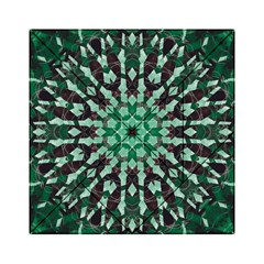 Abstract Green Patterned Wallpaper Background Acrylic Tangram Puzzle (6  X 6 )