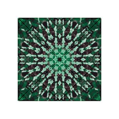 Abstract Green Patterned Wallpaper Background Acrylic Tangram Puzzle (4  X 4 )