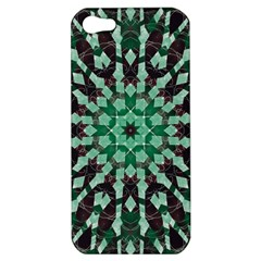 Abstract Green Patterned Wallpaper Background Apple Iphone 5 Hardshell Case