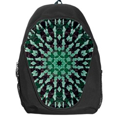 Abstract Green Patterned Wallpaper Background Backpack Bag