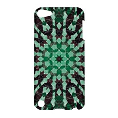 Abstract Green Patterned Wallpaper Background Apple Ipod Touch 5 Hardshell Case