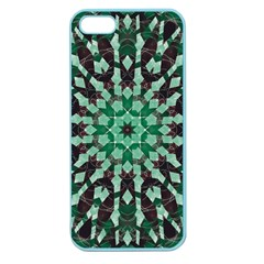 Abstract Green Patterned Wallpaper Background Apple Seamless iPhone 5 Case (Color)
