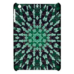 Abstract Green Patterned Wallpaper Background Apple iPad Mini Hardshell Case