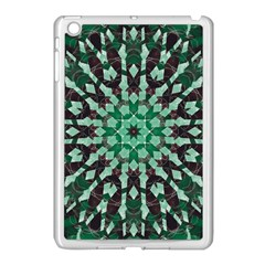 Abstract Green Patterned Wallpaper Background Apple Ipad Mini Case (white)