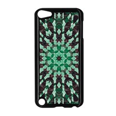 Abstract Green Patterned Wallpaper Background Apple Ipod Touch 5 Case (black)