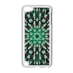 Abstract Green Patterned Wallpaper Background Apple Ipod Touch 5 Case (white)