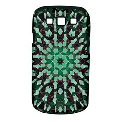 Abstract Green Patterned Wallpaper Background Samsung Galaxy S III Classic Hardshell Case (PC+Silicone)