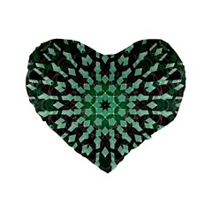 Abstract Green Patterned Wallpaper Background Standard 16  Premium Heart Shape Cushions