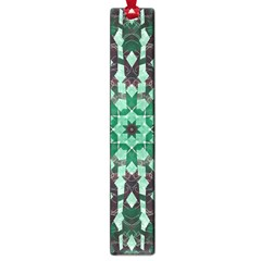 Abstract Green Patterned Wallpaper Background Large Book Marks
