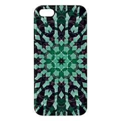 Abstract Green Patterned Wallpaper Background Apple Iphone 5 Premium Hardshell Case