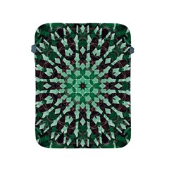 Abstract Green Patterned Wallpaper Background Apple iPad 2/3/4 Protective Soft Cases