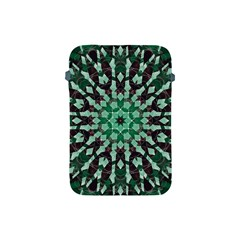 Abstract Green Patterned Wallpaper Background Apple iPad Mini Protective Soft Cases