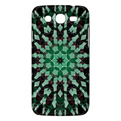 Abstract Green Patterned Wallpaper Background Samsung Galaxy Mega 5.8 I9152 Hardshell Case
