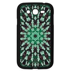Abstract Green Patterned Wallpaper Background Samsung Galaxy Grand DUOS I9082 Case (Black)