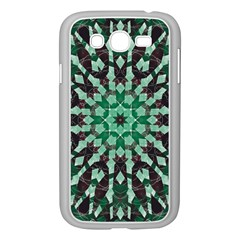 Abstract Green Patterned Wallpaper Background Samsung Galaxy Grand Duos I9082 Case (white)