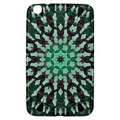 Abstract Green Patterned Wallpaper Background Samsung Galaxy Tab 3 (8 ) T3100 Hardshell Case