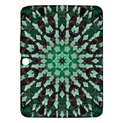 Abstract Green Patterned Wallpaper Background Samsung Galaxy Tab 3 (10.1 ) P5200 Hardshell Case